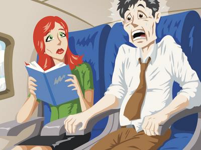 приступ паники в самолете